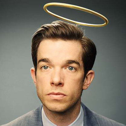 John Mulaney with halo