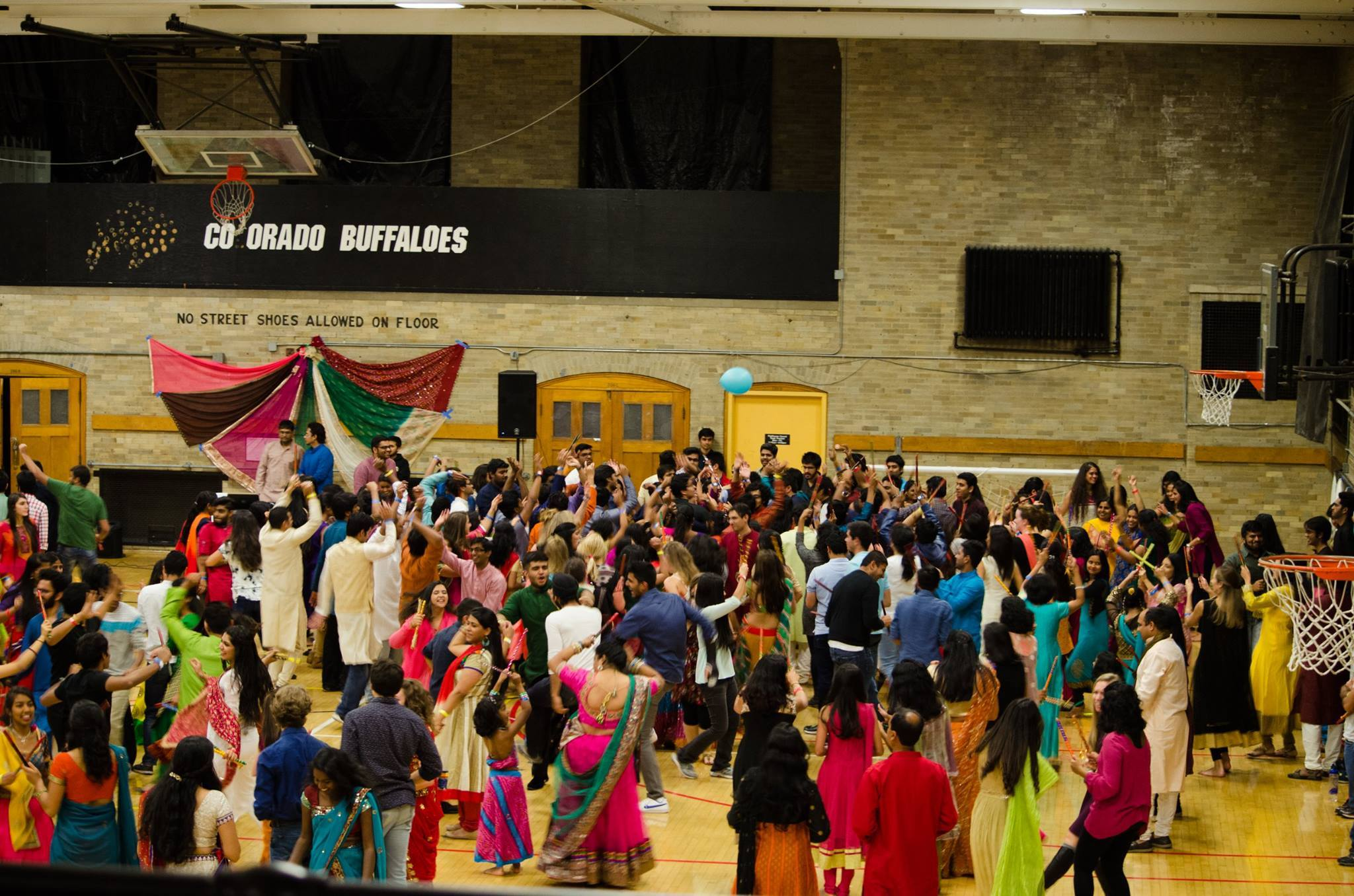 Participants at the annual Indian dance night Dandiya