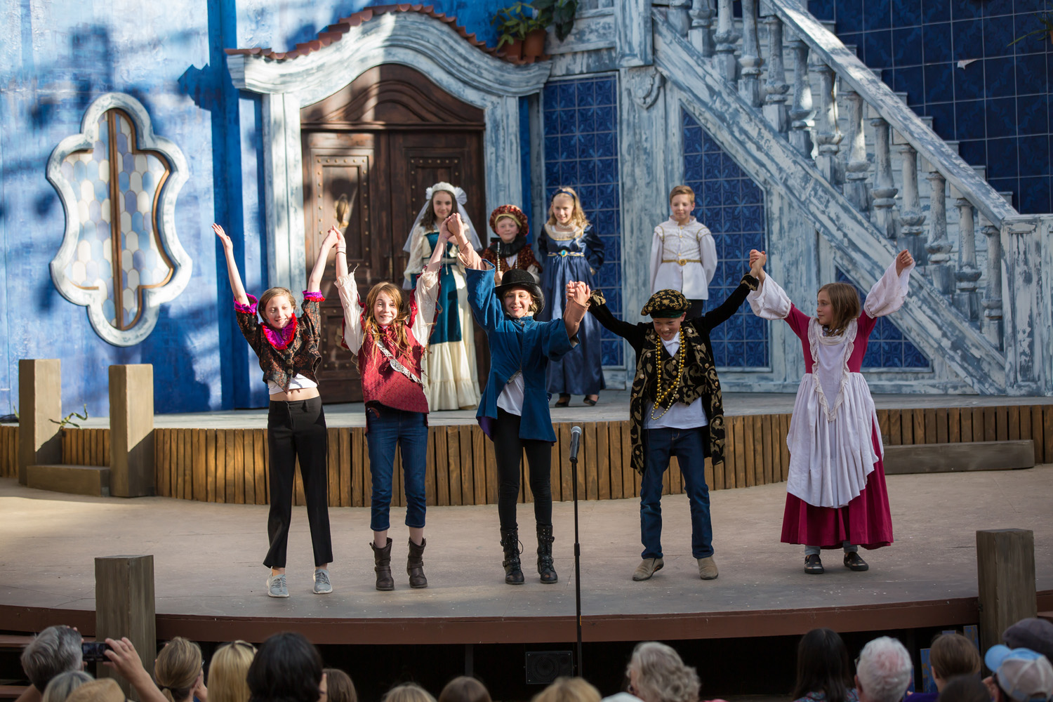 Shakespeare's Sprites curtain call on stage