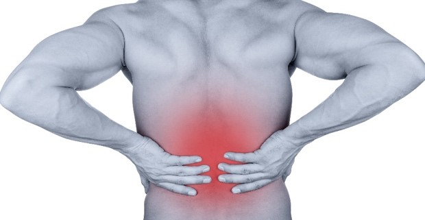 Illustration of back pain