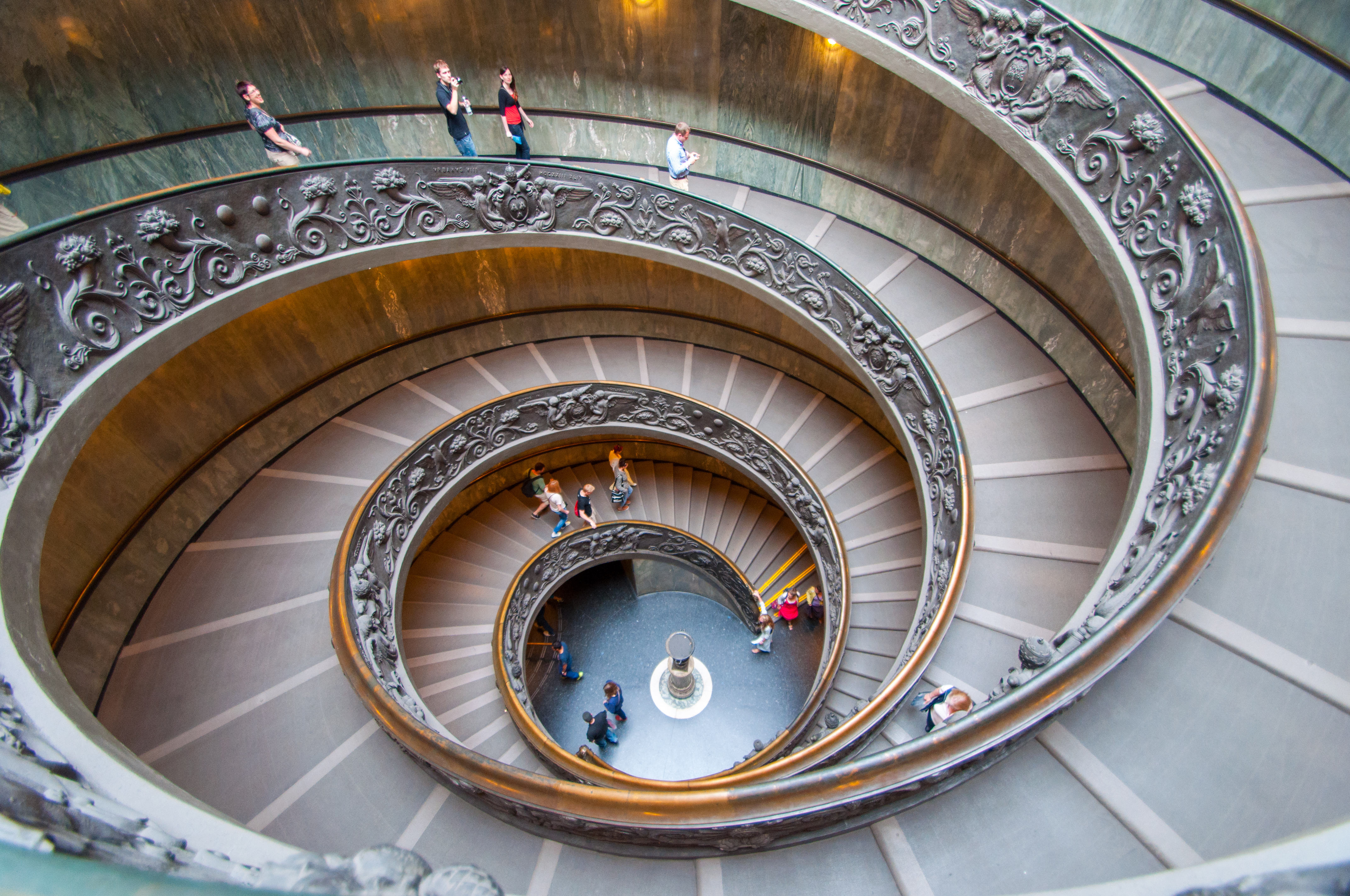 Spiral stairs in Rome