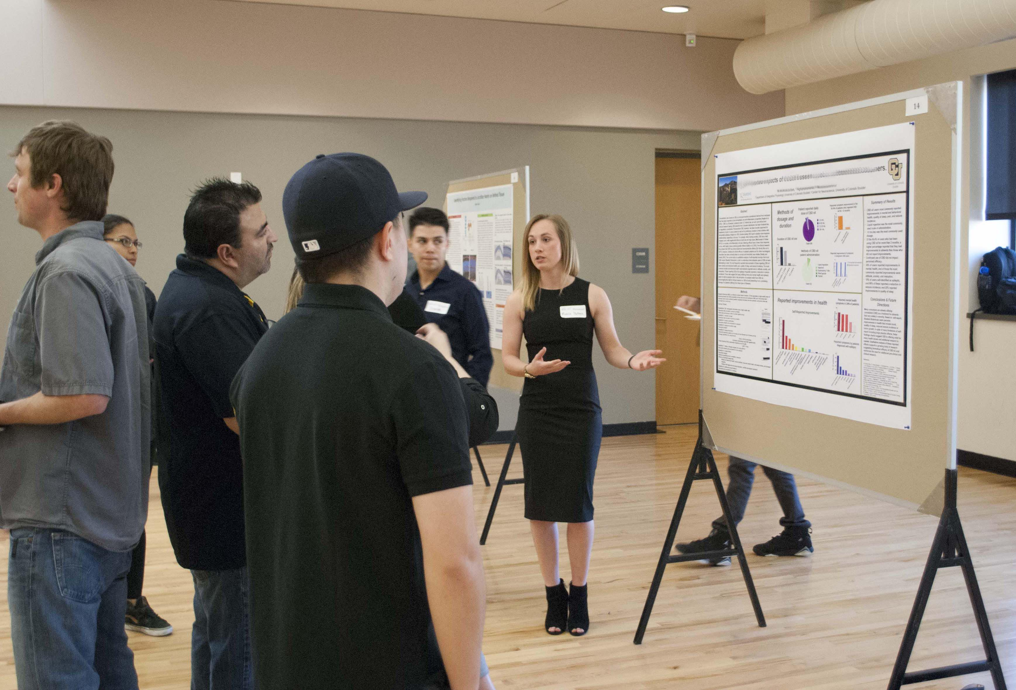 Visitors at the annual BSI Scholars Poster Symposium