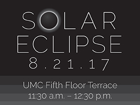 Solar Eclipse 8/21/17 at the UMC fifth-floor terrace