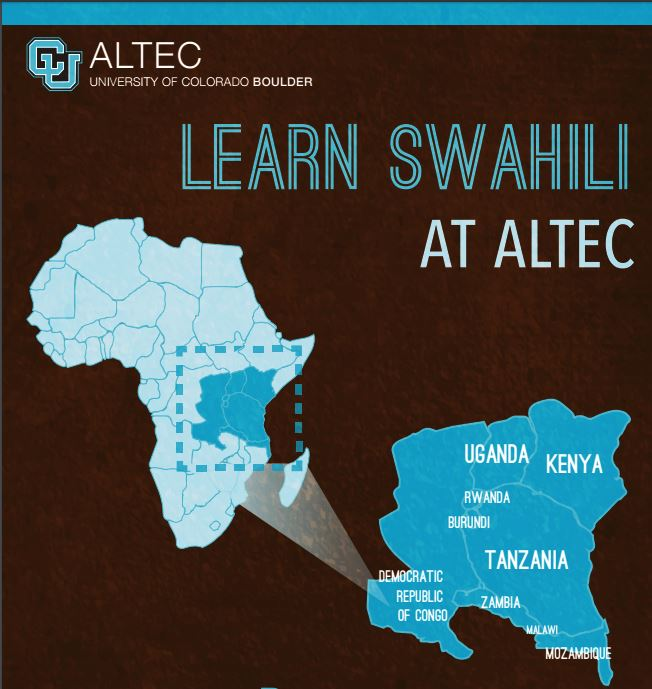 Learn Swahili at ALTEC; illustration of African content