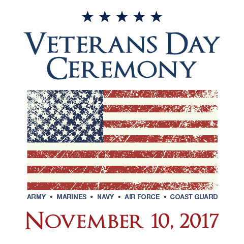 Veterans Day Ceremony Nov. 10
