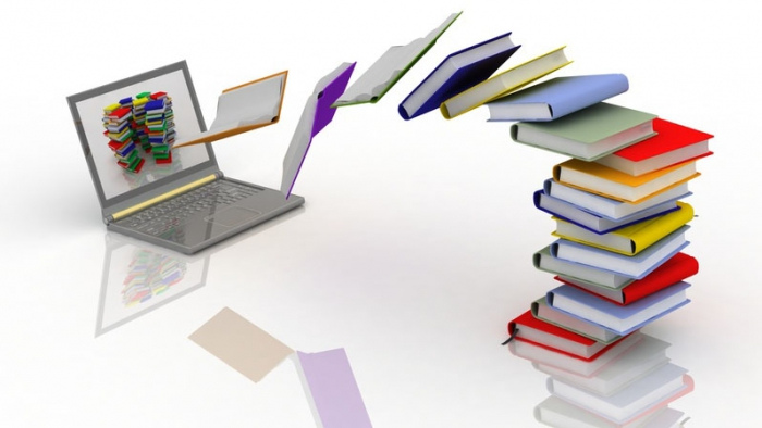 illustration of electronic books