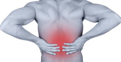 Graphic illustrating back pain