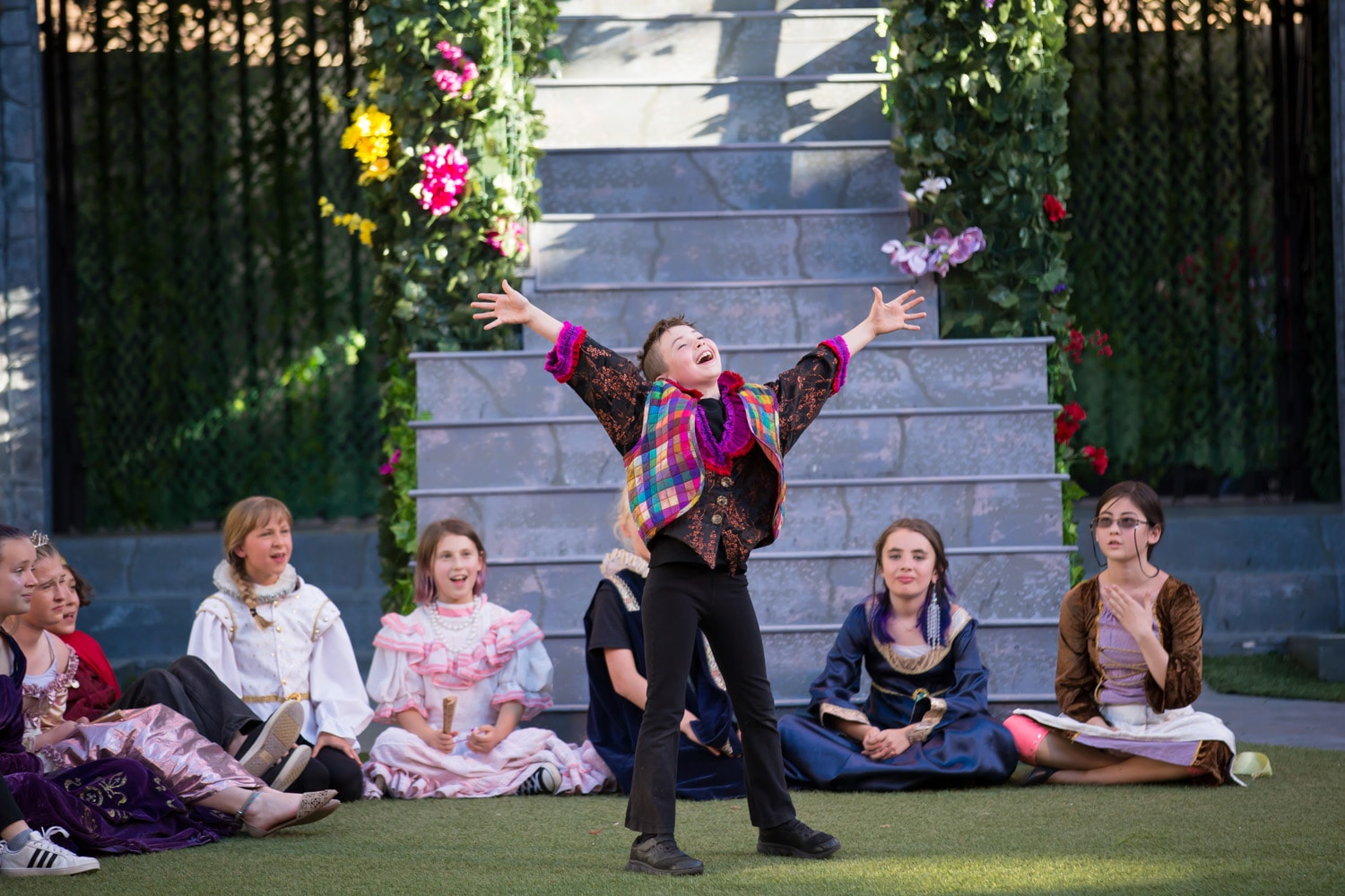 Kids perform Shakespeare on stage